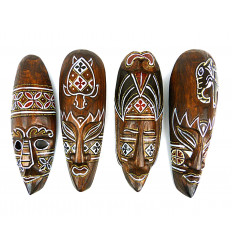Mask decor batik wooden 30cm. Deco mural-style ethnic' chic