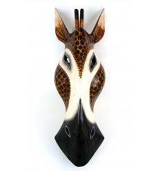 Mask Giraffe wood H50cm deco Africa
