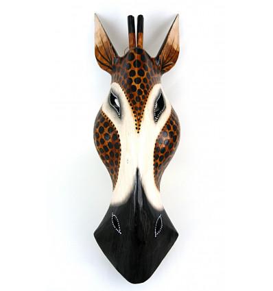 Masque Girafe en bois H50cm déco Africa