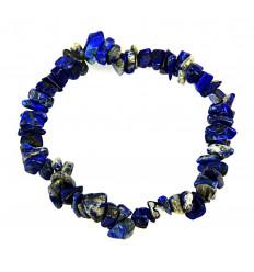 Bracelet baroque en Lapis lazuli naturel - la pierre de l'amitié.