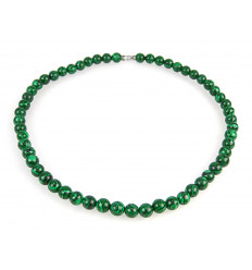 Collier / Ras de cou en Malachite. Perles de 8mm.