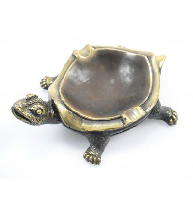 Cendrier tortue de terre en bronze. Collection vintage rétro 50's.