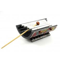 Mini xilofono di bambù artigianato bambino di strumento musicale africano.