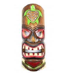 Maschera Tiki h30cm legno modello colorato. Decorazione Tiki.