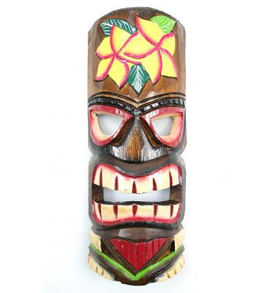 Masque tiki en bois pas cher. Déco murale Tahiti Polynésie Maori.