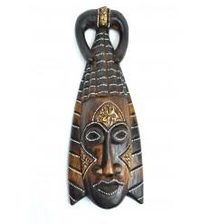 Masque Africain en bois 30cm style tribal.