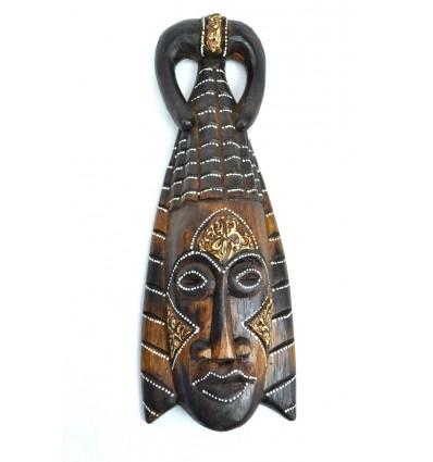 Maschera africana in legno 30cm stile tribale.