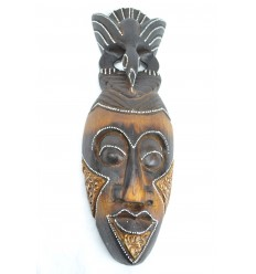 Masque Africain pas cher en bois 30cm fabrication artisanale.