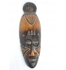 Maschera africana in legno 30cm arredamento etnico africano.