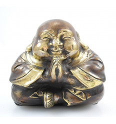 Buddha laughing chinese. Statuette, bronze. Decoration chinese. Purchase.