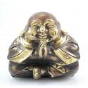 Bouddha rieur chinois. Statuette bronze. Décoration chinoise. Achat.