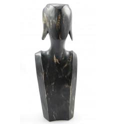 Busto Display collane e orecchini in legno massello rosso