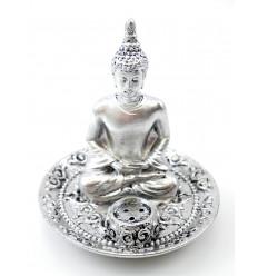 Porte-encens pour bâtons avec tête de Bouddha zen.