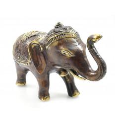 Statua di elefante di bronzo XL. Deco asiatici fiera dell'artigianato.