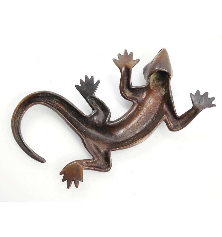 artisanat africain geko Poids Baoulé Akan salamandre bronze