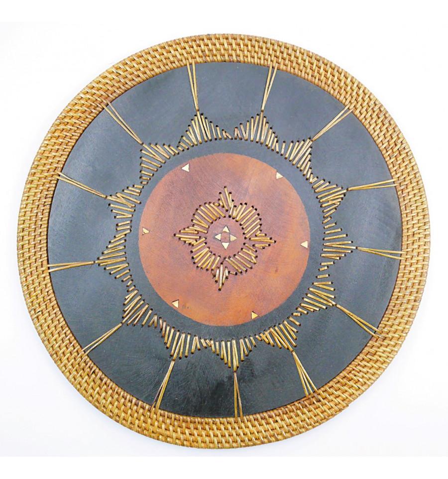 Set de table bali rond bois exotique ethnique chic Set de table photo