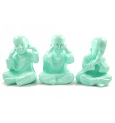 3 monks of the wisdom of buddha. Asian decor modern china.