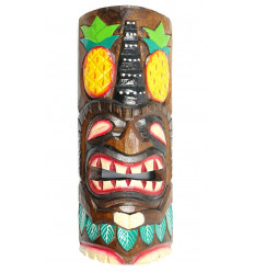 Masque tiki en bois pas cher. Décoration murale Tiki bar plage.