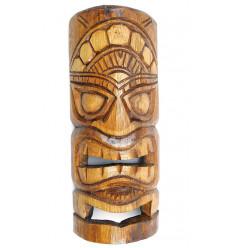Masque Tiki h30cm en bois exotique. Décoration murale Tiki.