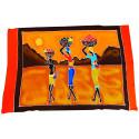 Tenture murale africaine batik, paréo ethnique africain multicolore.