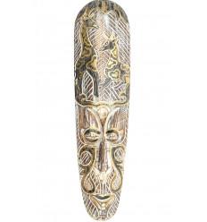 Maschera africana in legno moderne e bianco modello giraffa nero e oro.