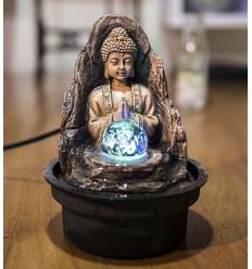 Piccola fontana coperta Buddha Pace con illuminazione a Led