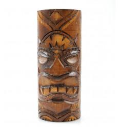 Totem Tiki legno. Trofeo statuetta etnica fatta a mano maori.