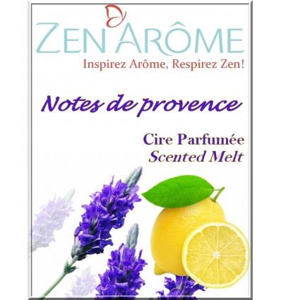 scented wax to disseminate brule scent, lavender from provence and lemon.