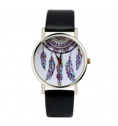 "Watch fantasy wife ""Bohemian"" pattern Catches Dreams - black strap"