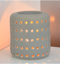 """Brule perfume / candle holder """"Coliseo"""" in ceramic grey"""