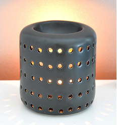"Brule perfume / candle holder ""Coliseo"" in ceramic black"