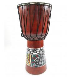 Djembé H50cm en bois et peau - niveau intermédiaire