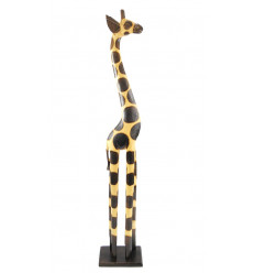 Statue giraffe standing in a wood, purchase deco giraffe african original.
