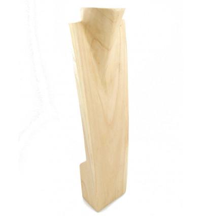 Grand présentoir, buste bois pour présentation collier long sautoir.