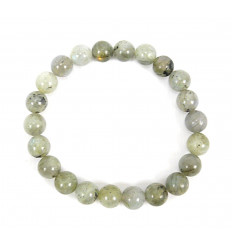 Bracelet Lithothérapie en Labradorite verte naturelle - Protection, méditation, apaisement.