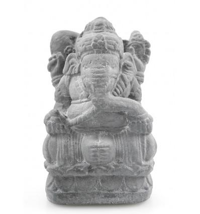 Statue de Ganesh H17cm en bois massif sculpté main