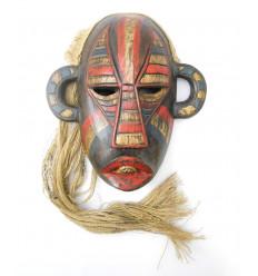 Masque primitif indonésien de Bornéo style tribal, arts premiers.
