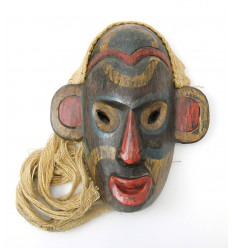 Tribal mask indonesian Borneo. Decoration arts first design.