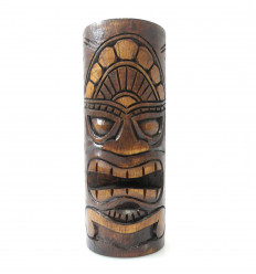 Totem Tiki en bois, Trophée statuette maori, achat décoration Hawaï.