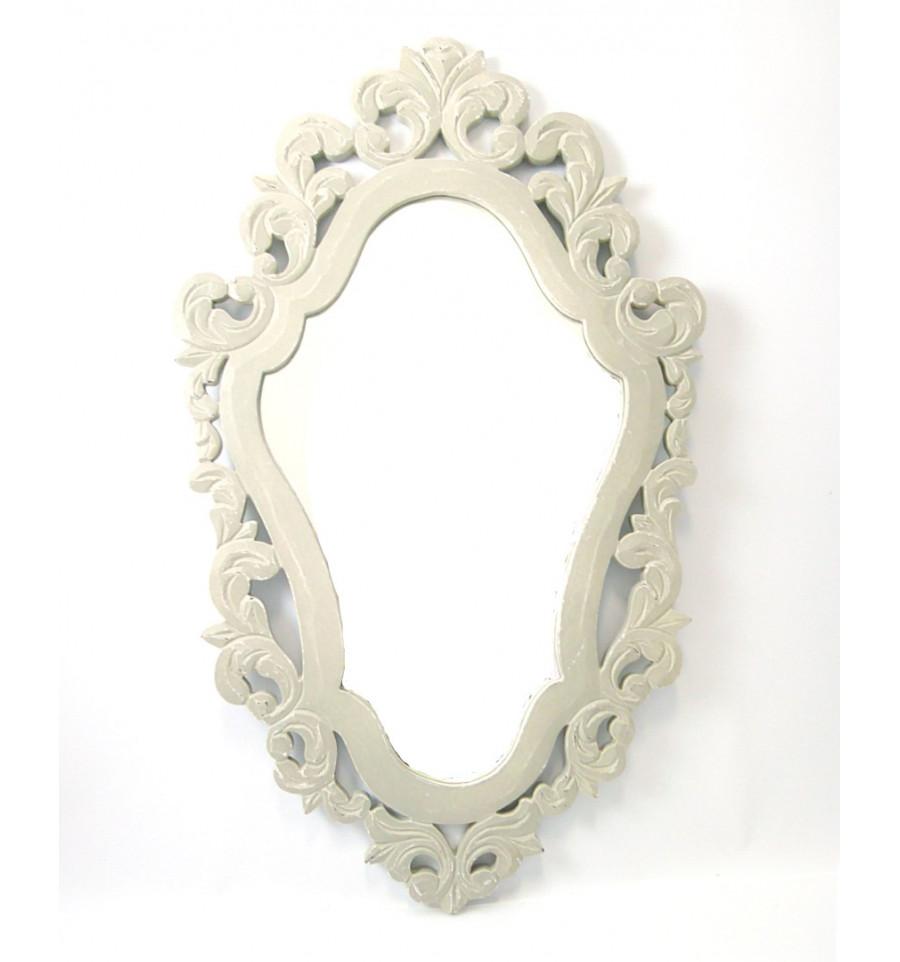 Miroir baroque en bois gris d coration maison du monde pas cher for Miroir en bois pas cher