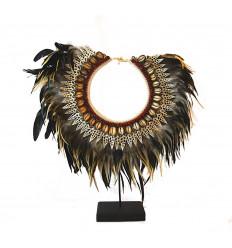 Collar papuan feathers. Scandinavian-style décor ethnic bohemian hygge.