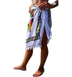 Paréo africain, robe ou jupe de plage. Vêtement de plage pas cher.