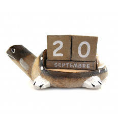 Perpetual calendar Turtle in the woods. Gift idea birthday child.