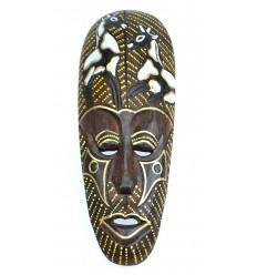 African mask in wood 30cm pattern Giraffe.