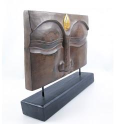 """Decorativo """"Buddha"""" in legno. Artigianale Scultura in stile Zen."""