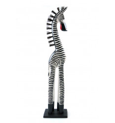 Statue Zebra 60cm deco atmosphere of the african savannah.