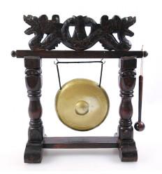Gong de table chinois sur socle. Décoration asiatique dragon achat.