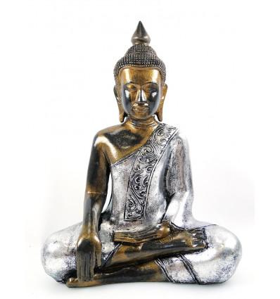 Statue bouddha thaïlandais méditation doré. Décoration thaï achat.