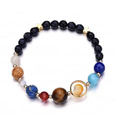 Bracelet Système Solaire en pierres fines.