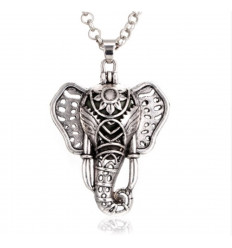 Aromatherapy necklace with pendant elephant head - aroma Diffuser